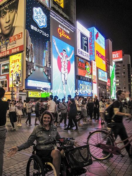 Osaka la nuit en la ribera