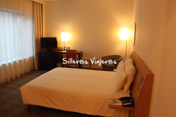 Habitación adaptada del hotel Novotel Berlín.