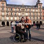 Plaza mayor de Madrid en silla de ruedas