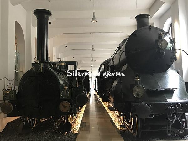 Trenes antiguos en el Museo del Ferrocarril