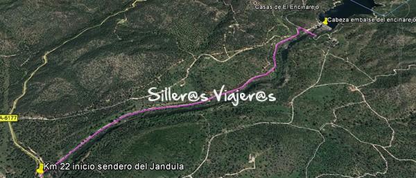 Mapa sendero del encinarejo