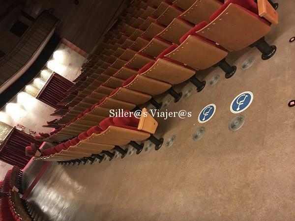 Sala de teatro con sitios para usuarios en silla de ruedas