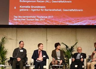 Imagen de los participantes en la mesa redonda de turismo accesible en ITB 2017