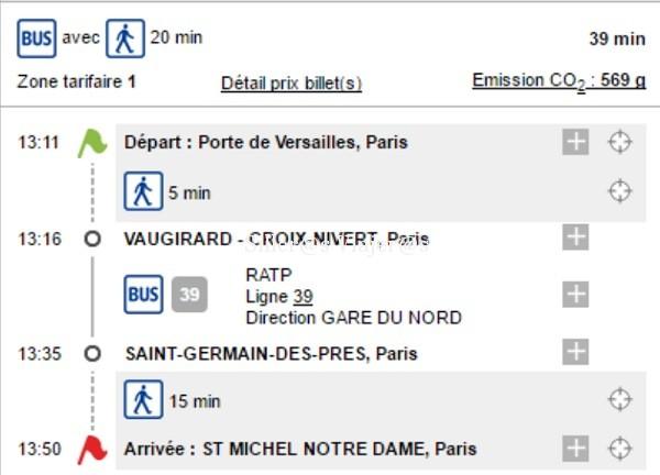 Trayecto en Bus hasta la Catedral de Notre Dame