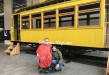 Visita con silla de ruedas y bastón guía al Museo del Ferrocarril de Gijón