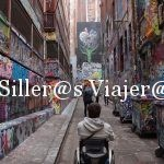 Calles accesibles, cómodas para usuarios en silla de ruedas
