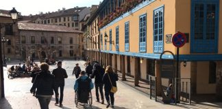 Plaza del Fontán en Oviedo