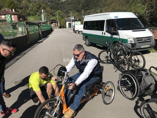Ajustando la handbike