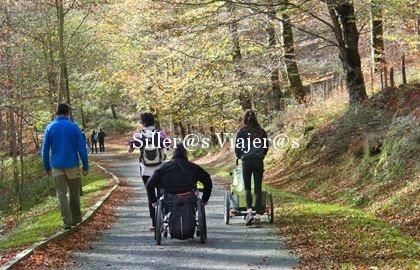 Sendero accesible para silla de ruedas
