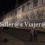 Pared de azulejo representando la procesión de príncipes