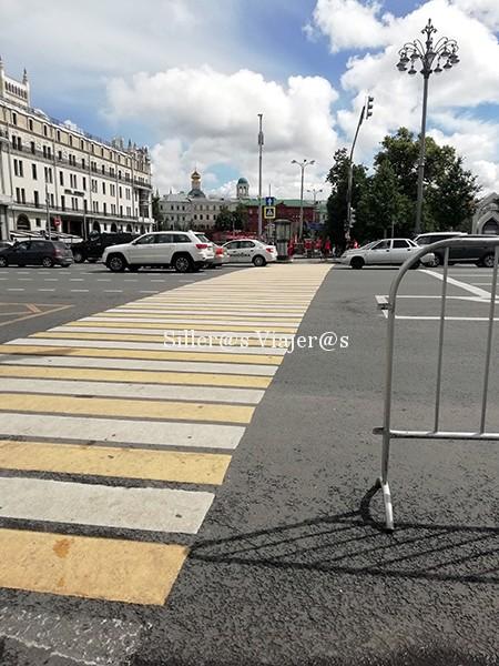 Paso de cebra enfrente del Teatro Boshoi, el único de la avenida