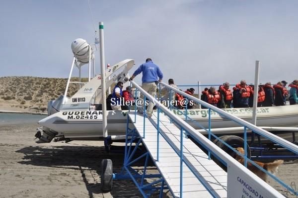 Viaje en barco hacia la Península de Valdés