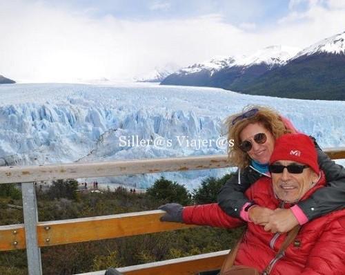 Nel y Nela en el glaciar de Argentina