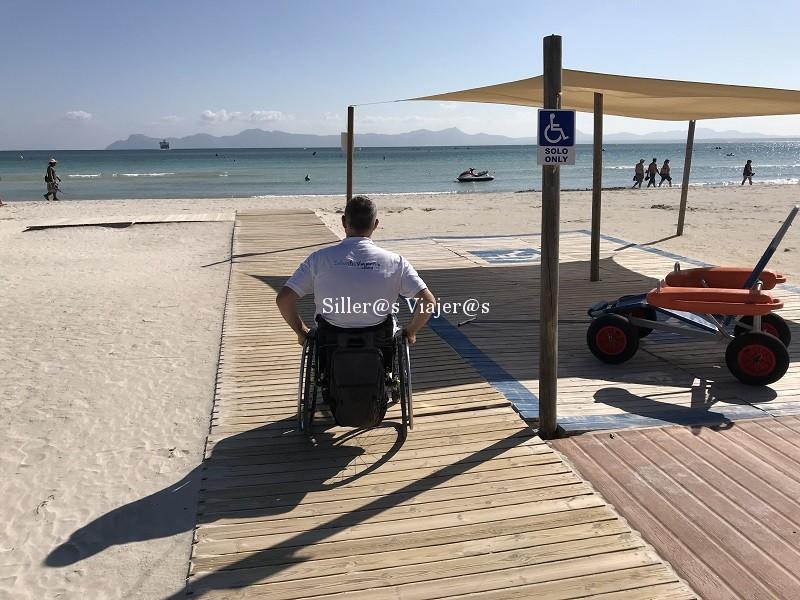 Pasarela accesible en la Playa de Alcudia