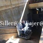 Salva escaleras para ir a las salas de exposiciones del Museo Sa Bassa Blanca