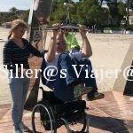Grua de traslado en punto accesible de la playa de Alcudia