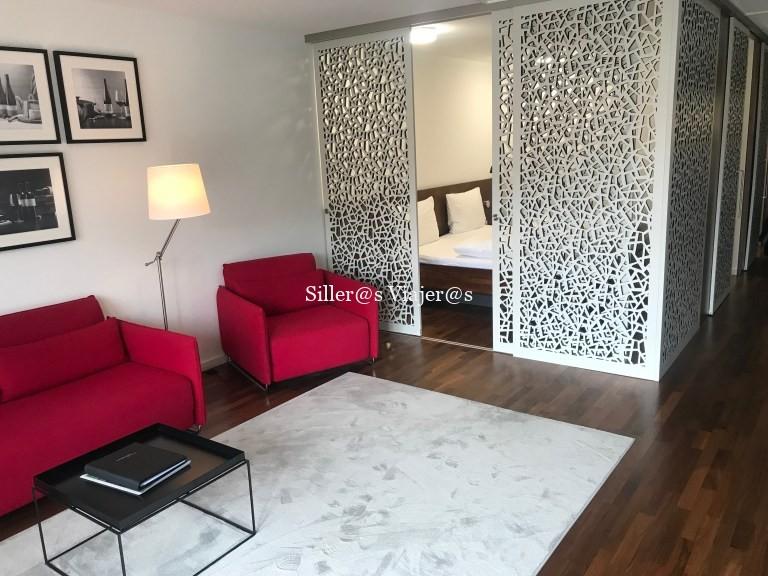 Zona salón, habitación adaptada, Hotel Consulado del Vino