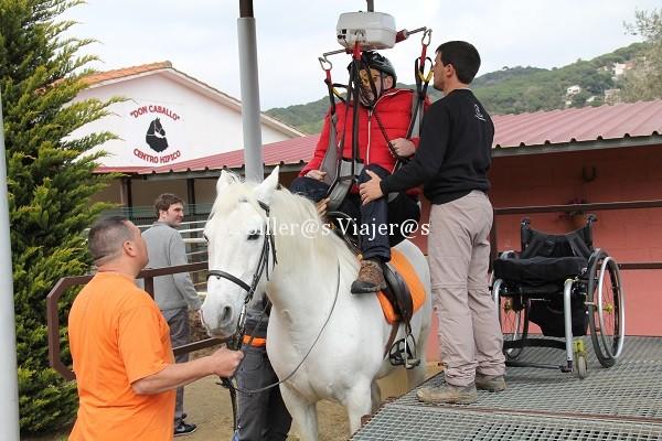 Montar a caballo con silla de ruedas