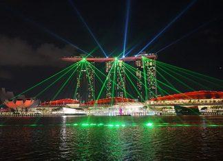 Singapur nocturna, Marina Bay