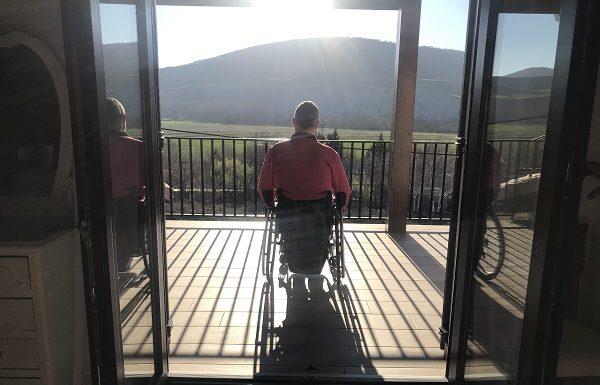 Vistas desde la terraza de casa rural Estankoenea en Navarra