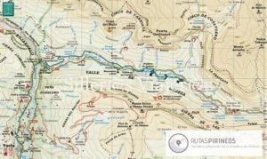 Mapa Sendero adpatado pradera de Ordesa. ©MJ:Aguilar