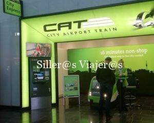 Local del City Airport Train en el aeropuerto