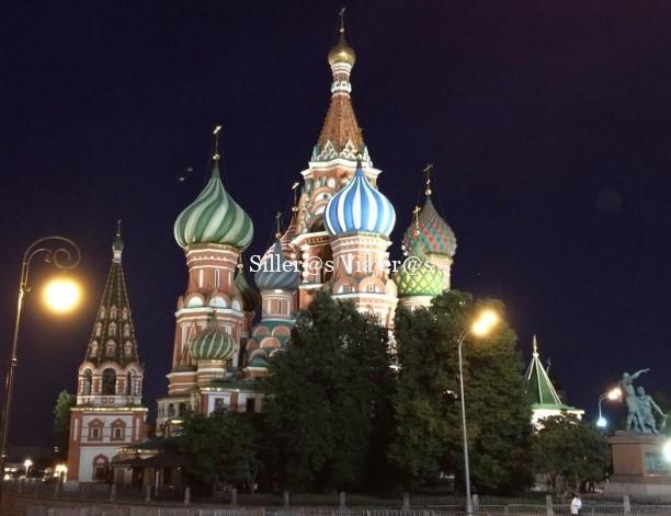 Vista nocturna del Kremlin