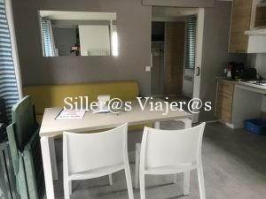 Salón Comedor de bungalow adaptado en Las Landas
