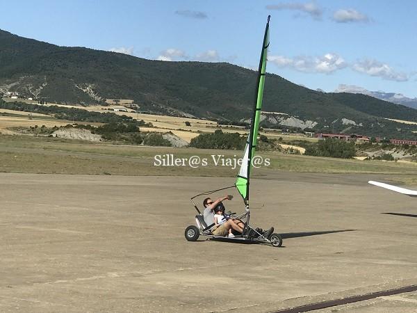 Carrovela, otra actividad inlcusiva que se puede realizar en aeródromo de Santa Cilia