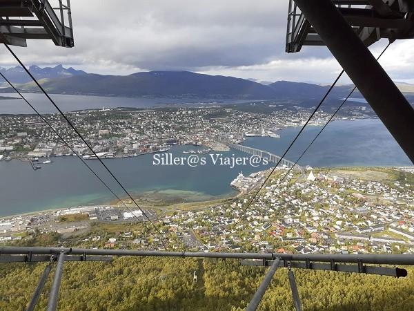 Vista de Tromso desde funicular