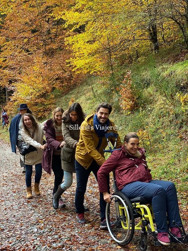 Selva de Irati en silla de ruedas