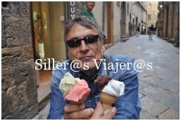 Disfrutando de un rico helado italiano