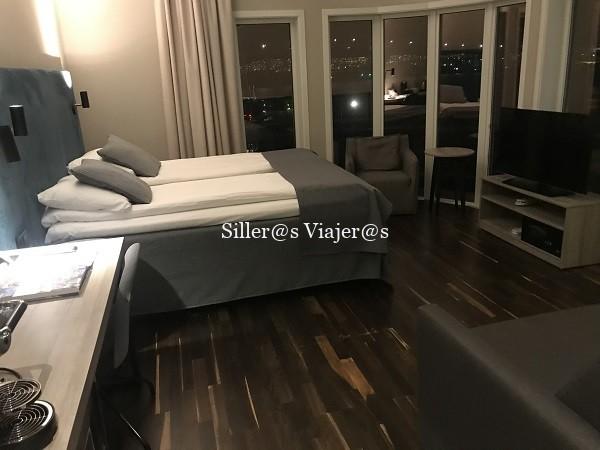 Habitación adaptada del hotel Scandic de Tromso