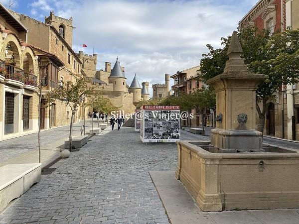 Vista del Castillo desde la Plaza Carlos III