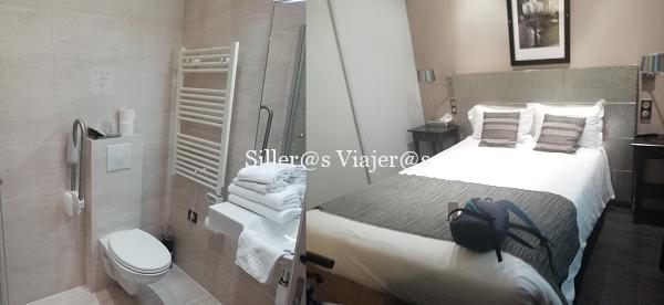 collage de 2 imágenes, a la izquierda inodo con barra de apoyo y a la derecha cama doble.