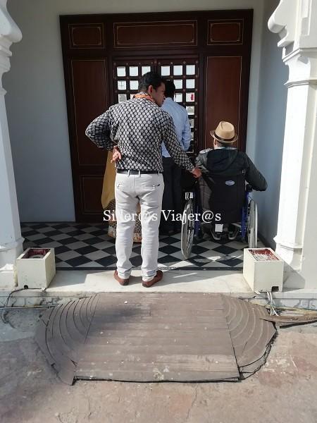 Ascensor de acceso al Palacio de Udaipur