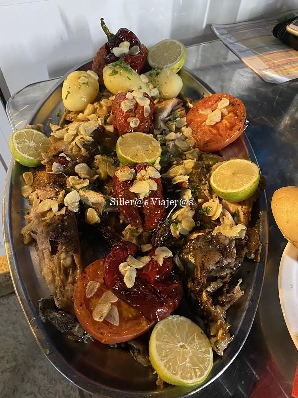 Bandeja de pescado fresco en Agaete
