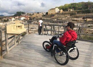 Salinas de Añana con silla de ruedas