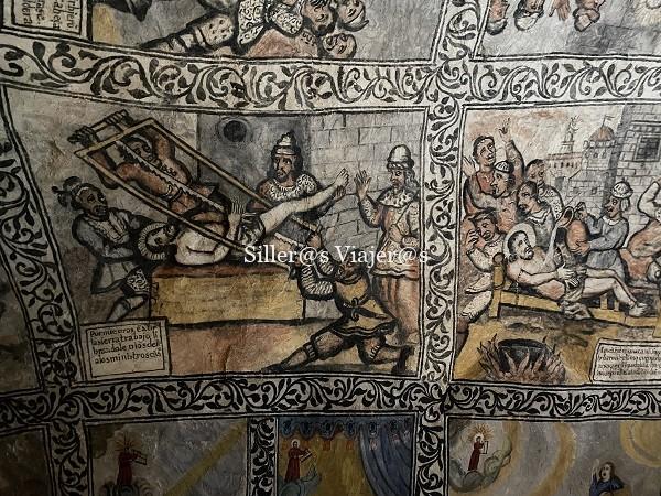 Frescos con pasajes de la vida y martirios de San Tirso