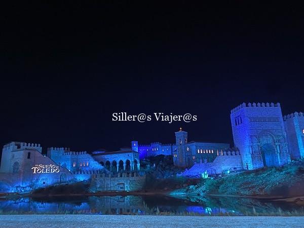 Vista nocturna del escenario del Sueño de Toledo