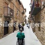 PAseando por Laguardia con silla de rueda