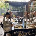 Comiendo en Villa Lucía